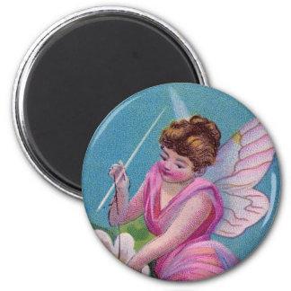 Pink Fairy Fridge Magnets