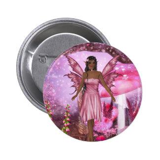 Pink Fairy Garden Button