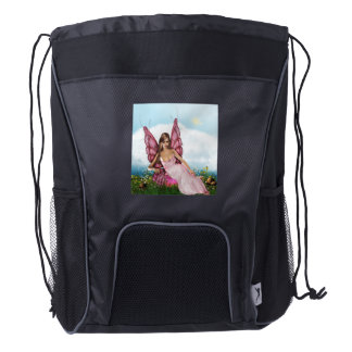 Pink Fairy Drawstring Backpack