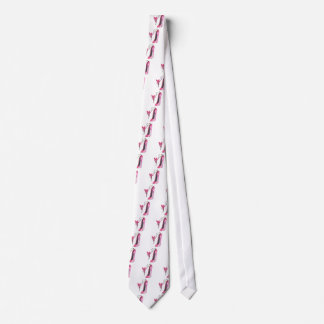 Pink Fairy Hearts and Stiletto Shoe Art Neck Tie