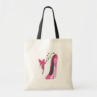 Pink Fairy Hearts and Stiletto Shoe Art Tote Bag