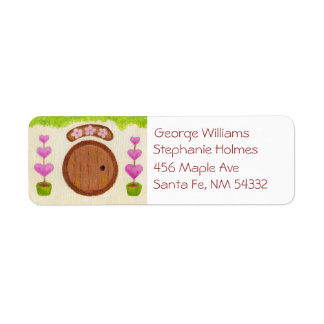 Pink Fairy House address label
