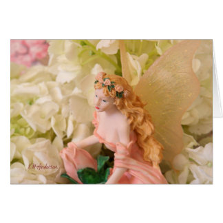 Pink fairy landscape card