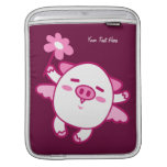 Pink Fairy Pig (customizable) Sleeve For iPads