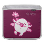 Pink Fairy Pig (customizable) Sleeves For iPads