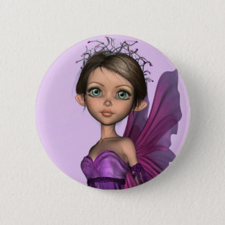 Pink Fairy Pinback Button