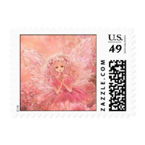Pink Fairy Postage Stamp