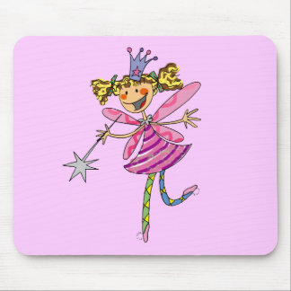Pink fairy princess mouse pad