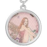Pink Fairy Round Pendant