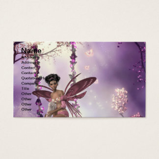 Pink Fairy Swing Business Card