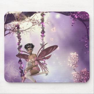 Pink Fairy Swing Mousepad