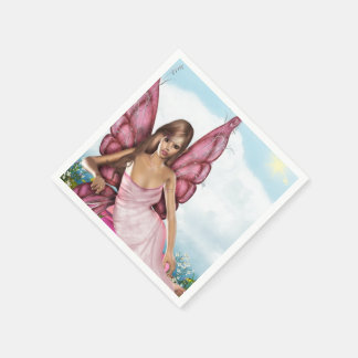 Pink Fairy Paper Napkin