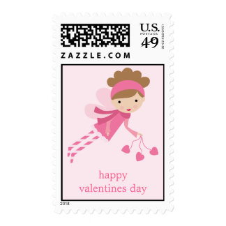 Pink Fairy Valentines Day Postage Stamps