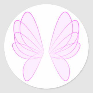 Pink Fairy Wings Stickers
