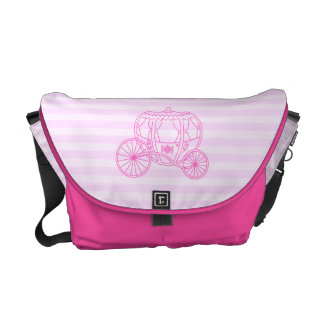 Pink Fairytale Carriage Messenger Bags