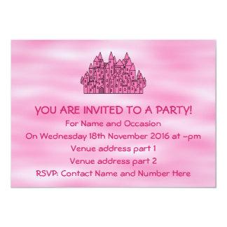 Pink Fairytale Castle Card
