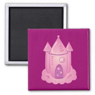 Pink Fairytale Castle Fridge Magnet