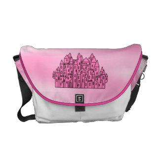Pink Fairytale Castle Messenger Bag