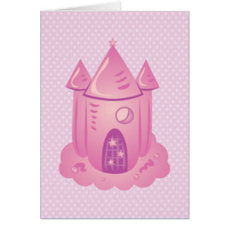 Pink Fairytale Castle Thank You Cards