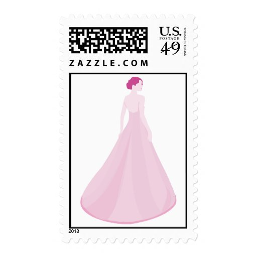 Pink Fairytale Gown Postage Stamp