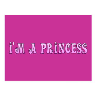 PINK FAIRYTALE IM A PRINCESS SAYING COMMENT ATTITU POST CARDS