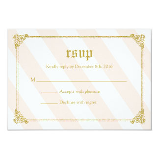 Pink Fairytale Princess Baby Shower RSVP Card