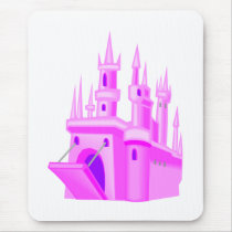 Pink Fairytale Wedding Castle Mouse Pad