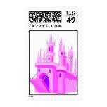 Pink Fairytale Wedding Castle Postage