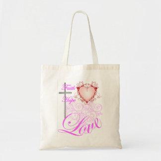 Pink Faith Hope & Love Bag
