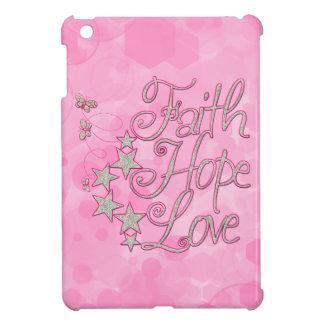Pink Faith Hope Love Butterflies Stars Virtues iPad Mini Cases