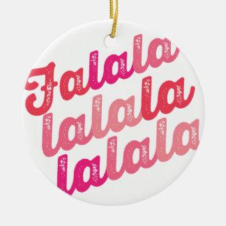 Pink Falalalala Christmas Holiday Photo Ornament