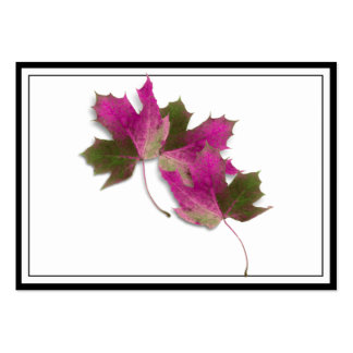 Pink Fall Leaves Business Card Templates