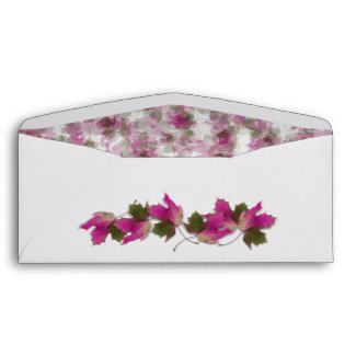 Pink Fall Leaves envelope
