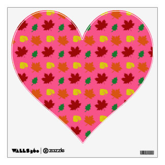Pink fall leaves wall decals