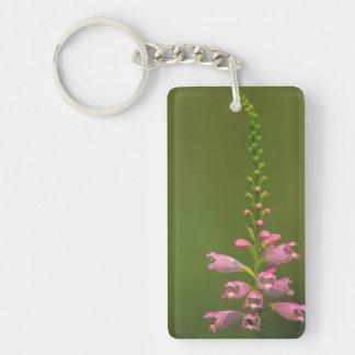 Pink False Dragonhead Flower Acrylic Key Chain