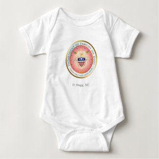 Pink Families on Duty Seal Customizable Baby Bodysuit