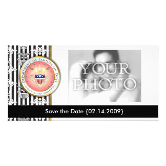 Pink Families on Duty Seal Photo Card