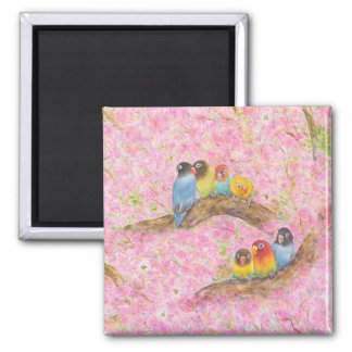 Pink Family Bliss 2 Inch Square Magnet