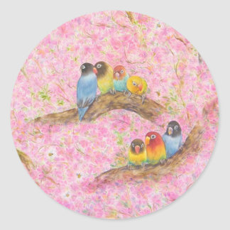 Pink Family Bliss Classic Round Sticker