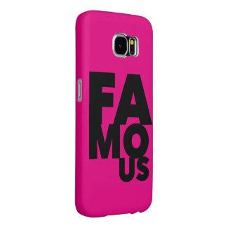 Pink Famous Samsung Galaxy S6 Cases
