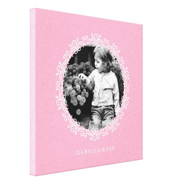 heartlocked Pink Fancy Decorative Frame Photo Canvas Print