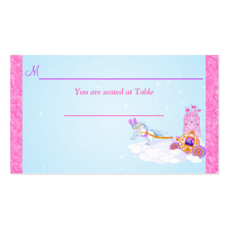 Pink Fantasy Fairy Tale Reception Place Card Business Card