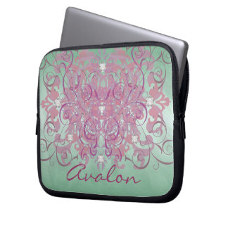 Pink Fantasy Faux Diamond Green Frosted  Sleeve