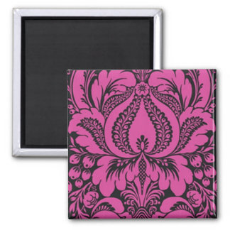 Pink Fantasy Floral Magnet