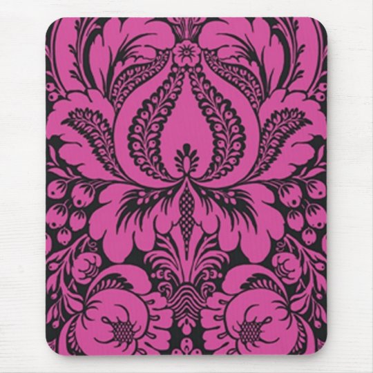 Pink Fantasy Floral Mouse Pad