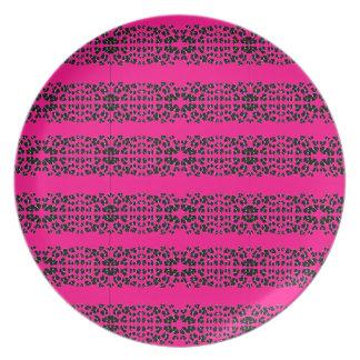 Pink Fantasy Flower 2 Melamine Plate
