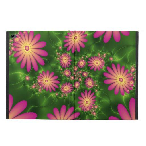 Pink Fantasy Flowers Modern Abstract Fractal Art Powis iPad Air 2 Case
