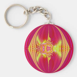 Pink Fantasy Fractal Keychain