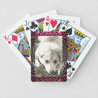 Pink Fantasy Frame Create Your Own Gift Template Bicycle Playing Cards