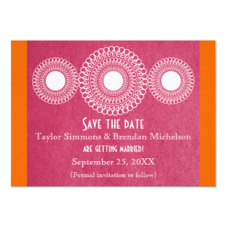 Pink Far East Elegance Save the Date Card